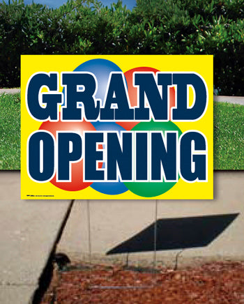 Coroplast Yard Sign: Grand Opening
