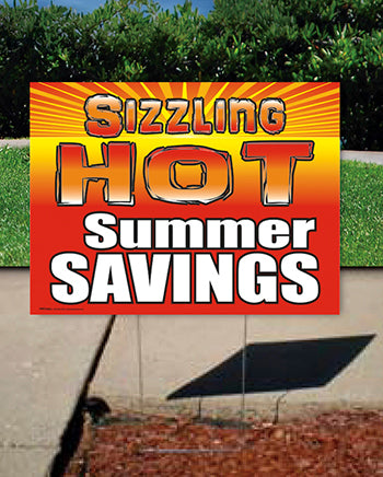 Coroplast Yard Sign: Sizzling Hot Summer Savings