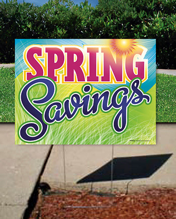 Coroplast Yard Sign: Spring Savings