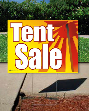 Coroplast Yard Sign: Tent Sale