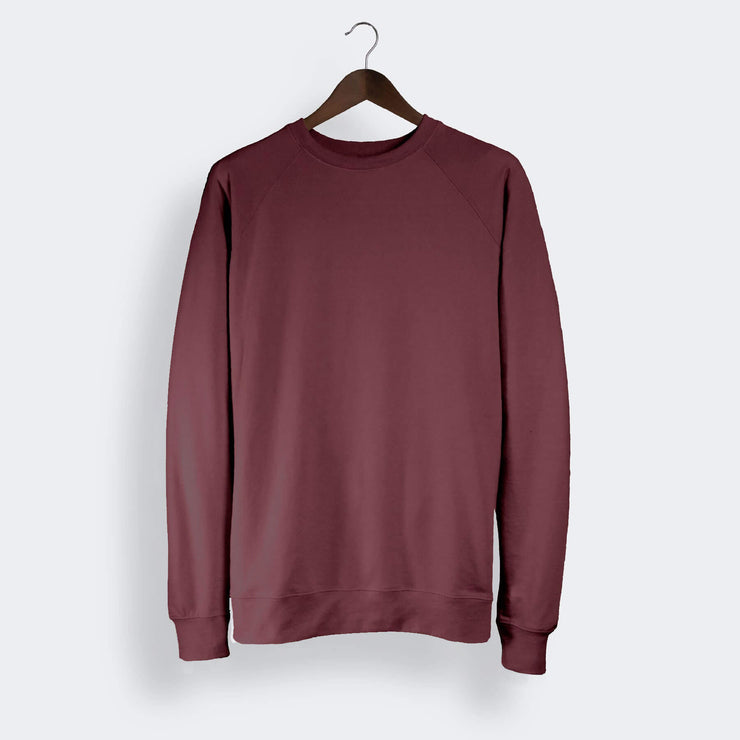 Maroon Red Essential Crew Neck Sweater, ADH-03-MR-S, ADH-03-MR-M, ADH-03-MR-L, ADH-03-MR-XL, ADH-03-MR-XXL