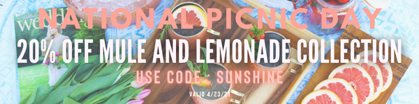 National Picnic Day #nationalpicnicday #picnic #lemonade #mule #moscowmule #cocktails, #cocktaildelivery #cheerstoyou #boxtail #beveragemgmt