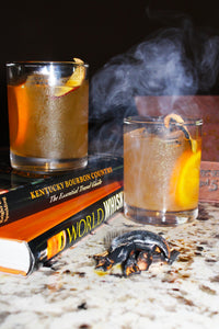 Smokey Peach Old Fashioned (8 Cocktails)