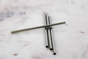 "5"" Metal Straws (4-Pack)"
