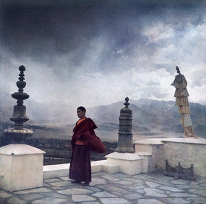 Monks monatery Himalaya Fresson print monastery monks India