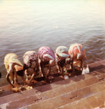 Load image into Gallery viewer, Polaroid prints India femmes Gange Varanasi Inde impression