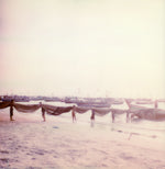 Load image into Gallery viewer, Fishermens Ngapali beach Myanmar Polaroid photography