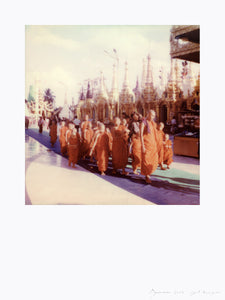 polaroid print monks vintage deco