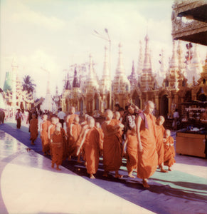 Polaroid monks Yangon Myanmar