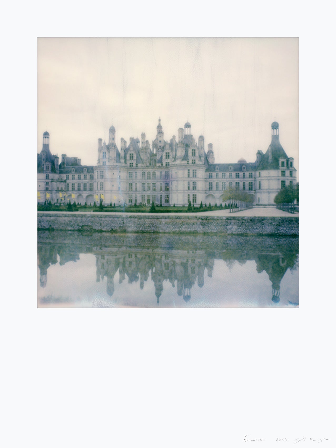 Impression polaroid chateau de Chambord France