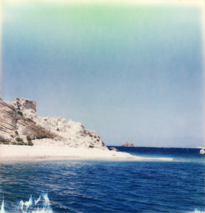 Polaroid Ile Grecque en Grèce photo mer