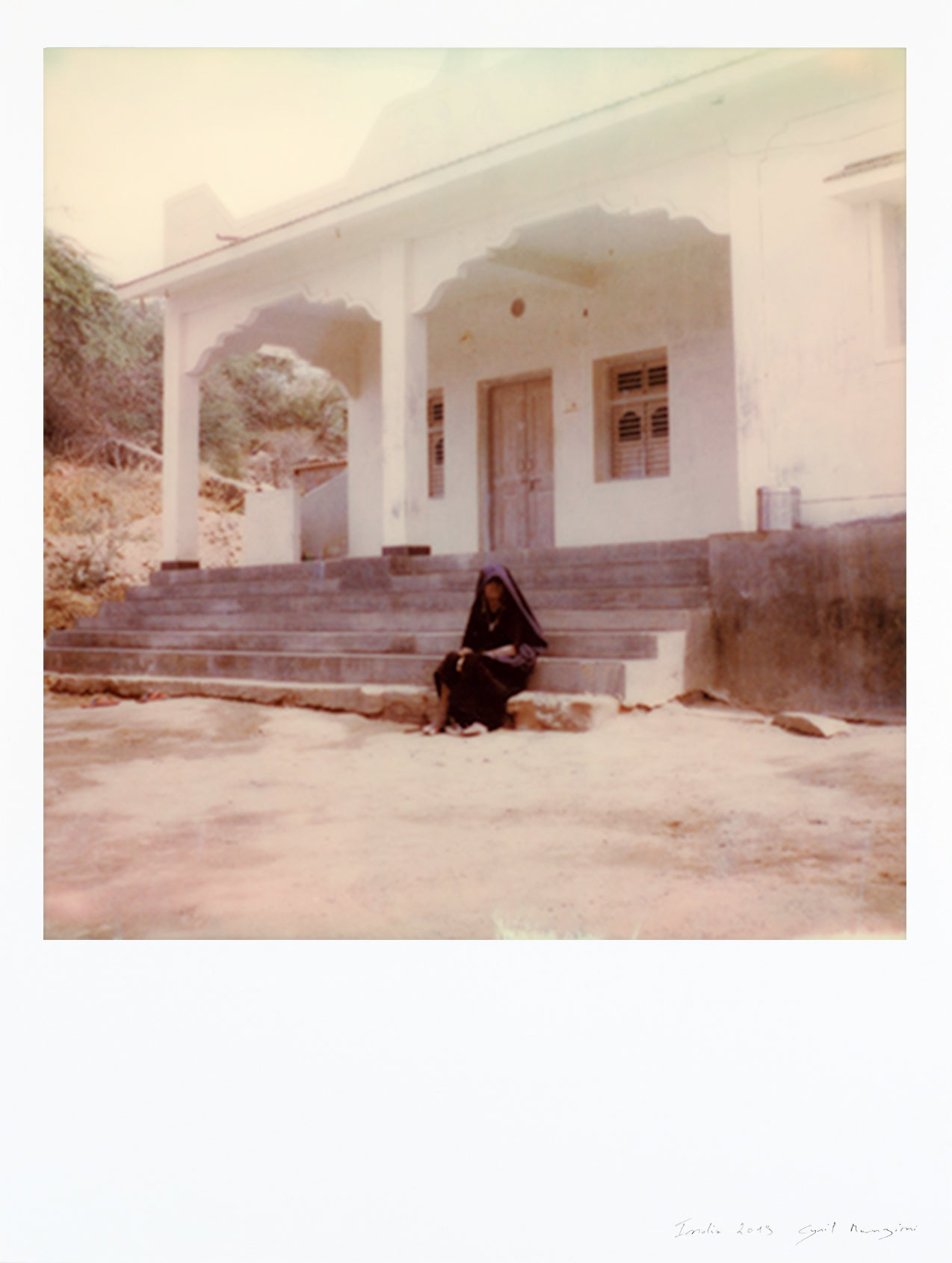 Impression polaroid large format Rabari woman Rajasthan India