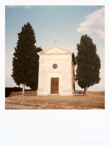 Photography Church Italy Tuscany Orcia valley large format deco