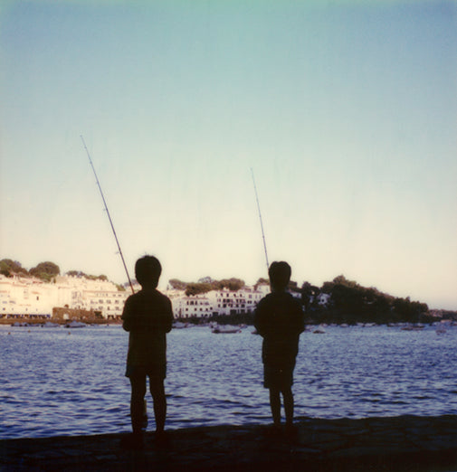 Kids Cadaques Spain polaroid photo