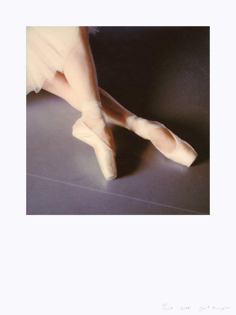 Polaroid print Ballet dancer photo Paris