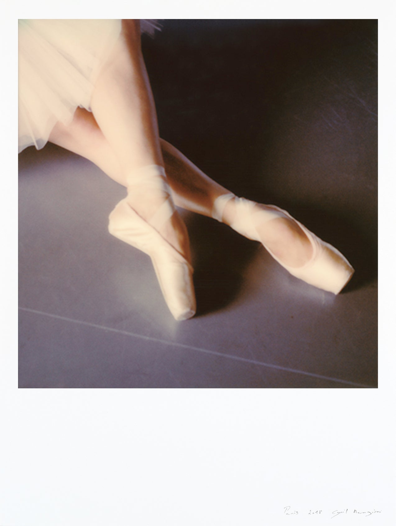 polaroid impression large format Paris ballet dancer