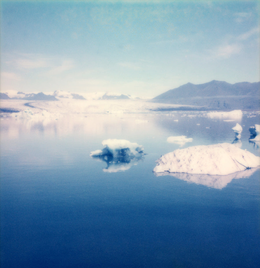 Polaroid print iceland iceberg decoration photo