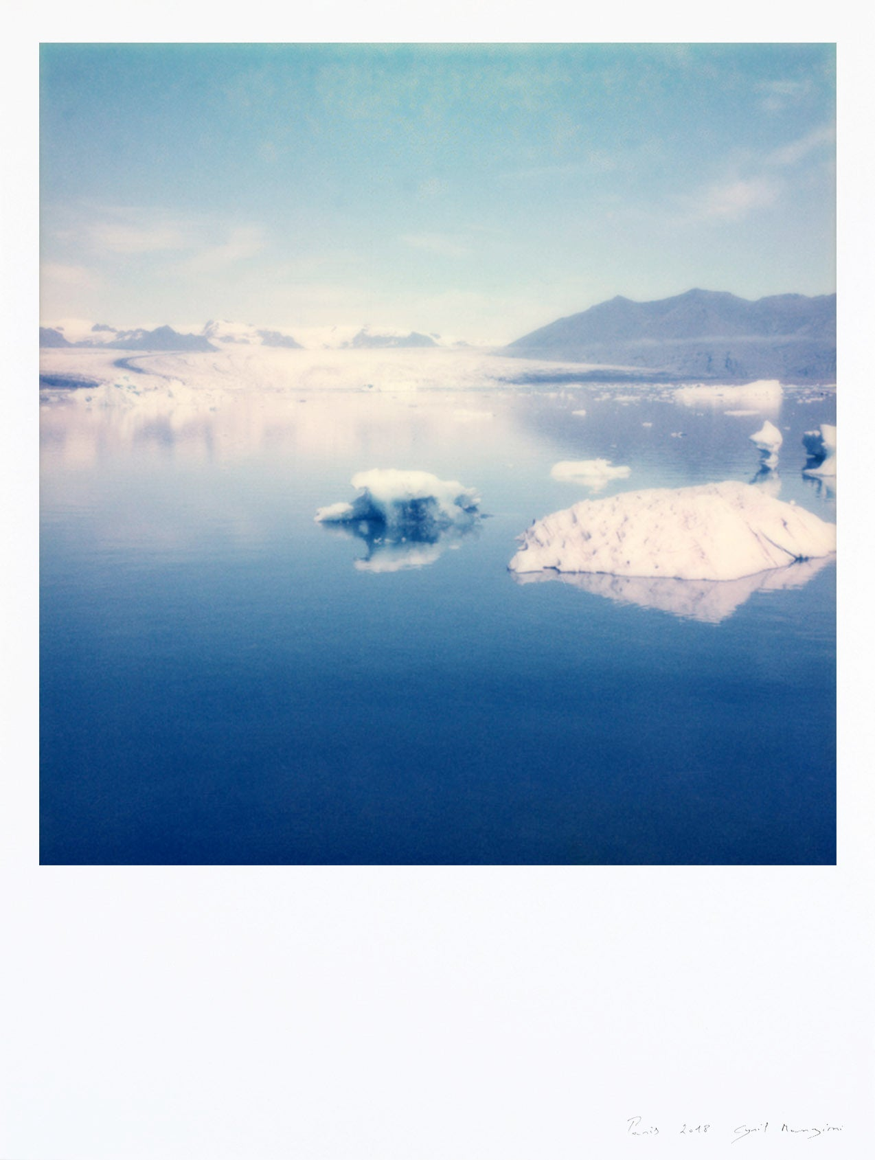 photo impression art iceland vatnajokull poster