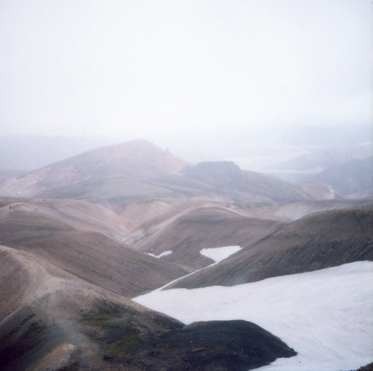 misty mountains Iceland deco photo