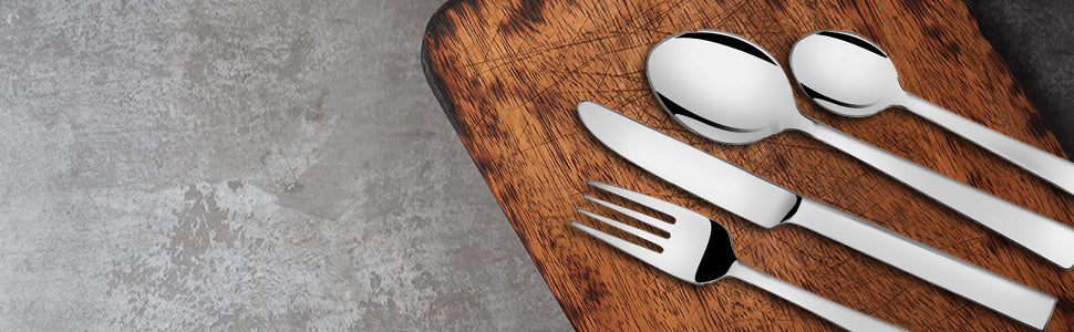 Why is it good to purchase a stainless steel spoon set as a part of your dinnerware?