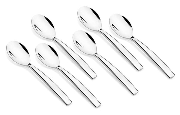 Shapes Aura 304 Grade Stainless Steel Table Fork Set of 6 Pieces || Dishwasher Safe || Mirror Finish