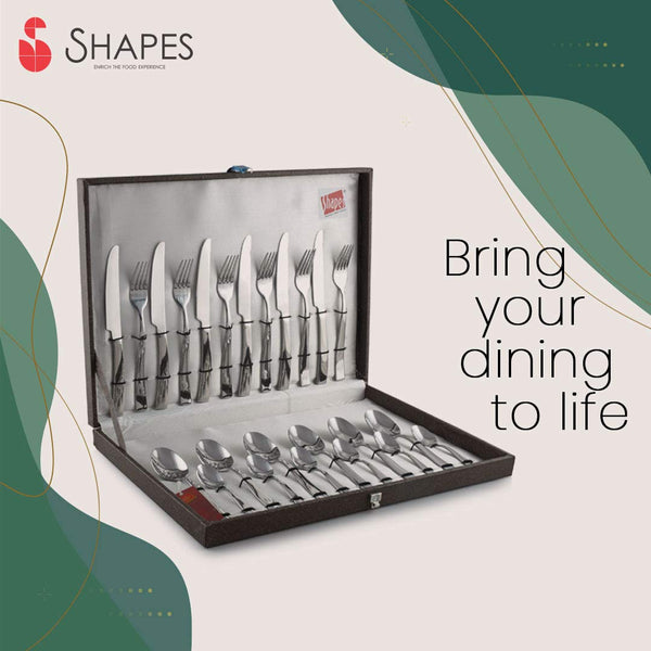 Shapes Gracia Stainless Steel Titanium Coated 24 Pcs Cutlery Set online