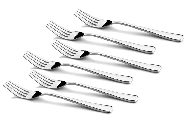 Shapes Zodi Stainless Steel 304 grade, 18/10 & Cup Rolled 6 pieces Table Fork