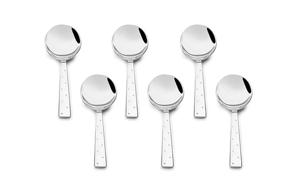 Shapes White Dot Soup Spoon 12 pcs