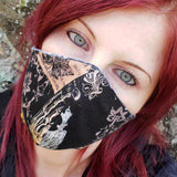 Gothic Alchemy Fitted Reversible Face Mask