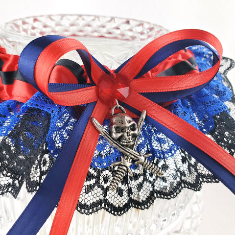 Red & Blue Pirate Wench Garter