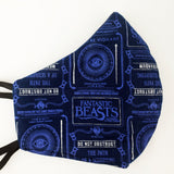 Harry Potter Fantastic Beasts Fitted Face Mask
