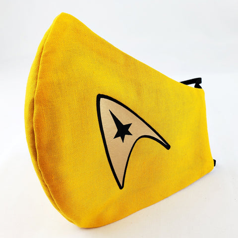 To Boldly Go... Star Trek Command Fitted Face Mask
