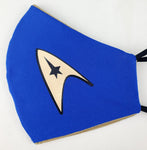 Star Trek Spock Science/Medical Officer Fitted Face Mask