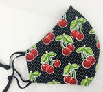 Rockabilly Cherry Face Mask
