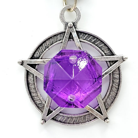 Majestic Purple Pentacle Necklace