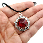Fire Red Prism Pentacle Necklace