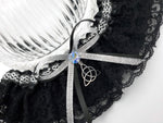Silver Celtic Triquetra Wedding Garter or Garter Set