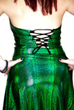 Naga Queen Dragon Scale Top & Snake Print Scale Skirt Set