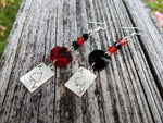 Harley Quinn Mismatch Ace Earrings