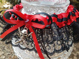 Pirate Wench Burlesque Garter or Garter Set