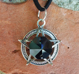 Midnight Black Pentacle Necklace
