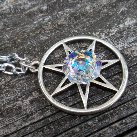 Fairy Star Septagram Prism Necklace