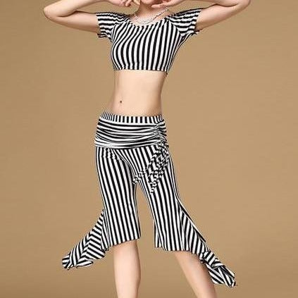 Belly Dance Vertical Stripe Pants & Top