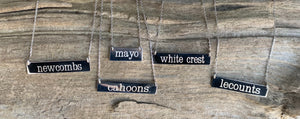 Wellfleet Beaches sterling bar necklaces