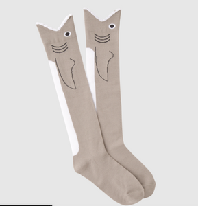 Womens knee high shark socks