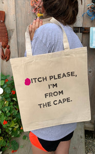 *itch please tote bag