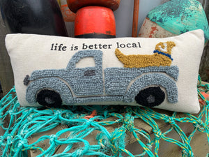 Life is better local pillow