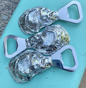 Pewter oyster bottle opener