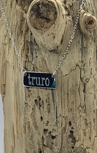 Sterling Truro bar necklace