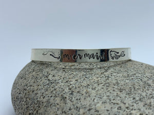 Sterling silver mermaid cuff bracelet